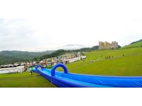 北台灣最長!120米滑水道 今起基隆「星空草原」啟用