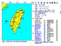 昨晚至今花蓮有30起餘震!氣象局:2周內恐有規模5的餘震