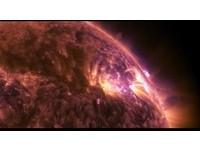 超罕見像花火!來看絕美太陽「閃焰」 NASA變色好高清