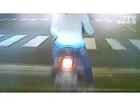 手搖杯卡轎車煞車踏板 等紅燈女騎士遭追撞冤死