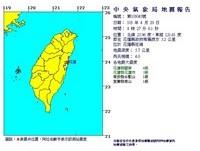 快訊/花蓮08:27發生4.0地震! 最大震度4級
