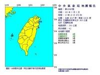 花蓮13:25發生4.2地震 今起5震都是上周的餘震!