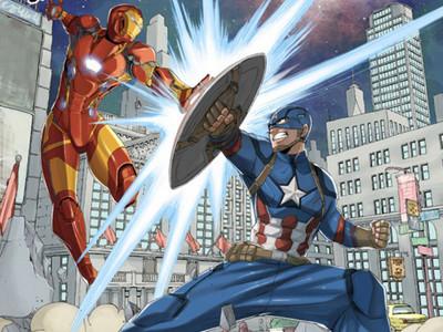 《美國隊長3》全新海報日系風 鋼鐵人竟然擁有22吋腰