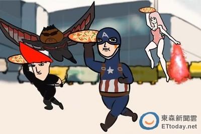 吃太多了!《美隊3》惡搞版美食內戰 40萬網友笑翻