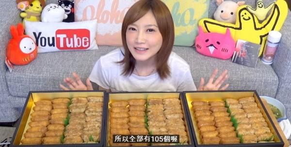 大胃王正妹新挑戰!正妹大胃王木下佑香又來了!105個豆皮壽司,半小時內就嗑完