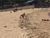 比基尼辣妹沙灘撿垃圾 旁邊趴一男網笑:等被她撿?