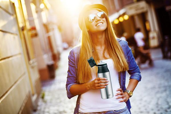氣泡飲也OK!德國設計保溫瓶 消暑保冰24小時
