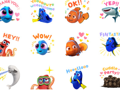 《海底總動員2》LINE貼圖!多莉、尼莫與配角萌萌登場