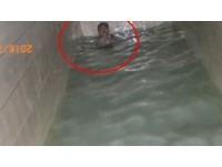 笨賊誤觸警報...大樓住戶圍捕 他跳下水塔跑不掉:好痛
