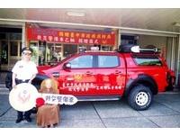 「車神」改裝加持 石岡明山寺捐贈「最強警備車」