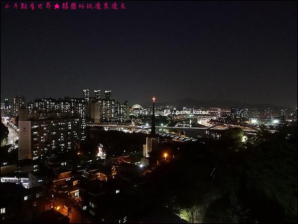 首尔超人气的梦幻夜景 鹰峰山图片