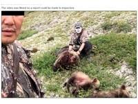獵人開心與三熊屍體合照 「媽媽死了小熊當然也要殺」