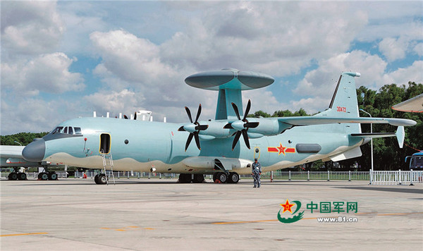 由運-9作為改裝平台的空警-500於吉林長春開放展示。(圖/翻攝自中國軍網)