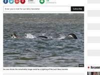 又見「尼斯湖水怪」現身?外媒都稱:史上最清晰的一張