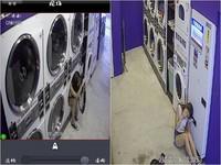 短褲妹洗衣店外拍!老闆監視器看傻…竟跨腿坐進20萬機器