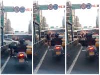 搭小黃等紅綠燈 女尿急直接在大馬路小解