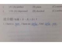 英文「送分題」填3格超簡單 網友糾正:結果還是錯了?