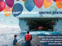 NASA宇航員的護送大軍 美國海軍241歲生日快樂!