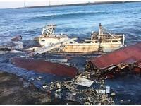 烏石港漁船擱淺「斷3截」 閃淤沙改道撞…船底破洞漏油