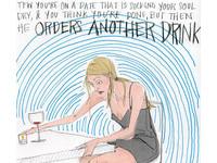 5張超精準插畫 道出都會女人約會時心中的痛苦OS