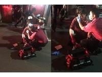「制服紅到分不清是消防或警察」 勇警逮賊遭玻璃劃傷