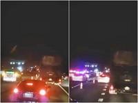 國道暗夜驚見女騎士…剎不住輾過破頭亡 4車追撞翻覆