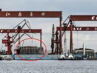 航母「帶刀侍衛」全電推進 057型護衛艦分段曝光