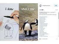 6歲兒「奇特插畫」加點工 父愛變出超萌「側頭企鵝」
