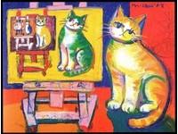 跟巨喵遊世界!童年「5元」與貓結緣 呂游銘闖美逐畫家夢