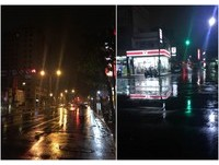 強風大雨特報!半夜高架橋風好大 台北騎士淋雨:快被吹走