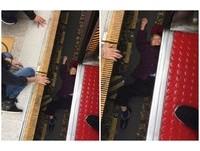超驚!月台縫隙4個手掌寬 阿嬤踩空「慘墜鐵軌」