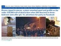 少女臉書PO生日派對引百人搗亂 砸破天花板損失百萬元