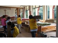 結合建築專業送暖 遠雄幫助修復社區教堂