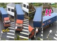 貨櫃車卡淡水小巷…倒退瞬間出來了!5萬人讚嘆「神司機」