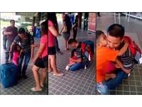 把拔不要走!5歲女在機場哭喊 父女情深讓網友流淚了