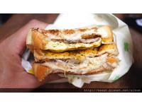 台北新開幕早餐店 三層超厚片「炭烤三明治」