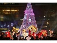 高雄下雪了!12米「紫色聖誕樹」千人搶拍 點點星光超浪漫