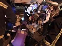 快訊/中山高北上61km車禍!遊覽車連2撞 12人傷、1重傷