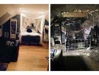 iPhone充電一整晚! 少女把夢幻房間燒成「焦黑廢墟」