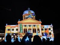 萬人朝聖3D光雕秀 瑞士國會大廈夜晚活起來還會敬禮!