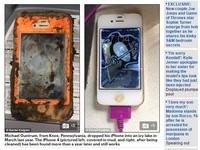 「落難iPhone4」掉冰湖1年 放米堆曬乾…竟還能使用!