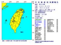 快訊/規模5.5地震清晨5點55分深度19.6公里