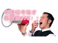 中捷招考多類人員 薪最高67K