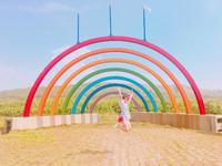 苗栗後龍「海角樂園」 海邊住著一道彩虹!