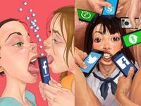 7張情色插畫諷刺人被APP綁架、病態求讚 你中了幾項?
