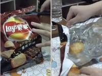 洋芋片打開包裝只有「一片」 網友:我開過空的…