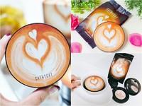 肌膚也要喝咖啡?能刮出水的「咖啡拉花粉底霜」爆紅