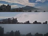 「灰霧霾」鋪天來襲!3張照瞬間變色 淡水人苦吸炭燒味