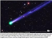 台灣民眾2017年1月1日凌晨2時30分可看彗星迎新年