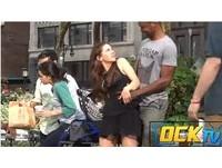 正妹隨機坐男人大腿 遭人用下體狂「頂」
